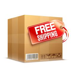Free shipping cardboard box vector