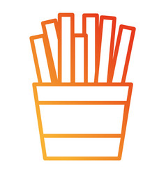 french fries isolated icon vector image