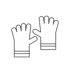 Garden gloves icon outline style vector