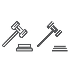 gavel line and glyph icon justice and judge vector image