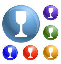glass jar icons set vector image