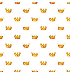 Gold crown pattern vector