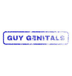 Guy genitals rubber stamp vector