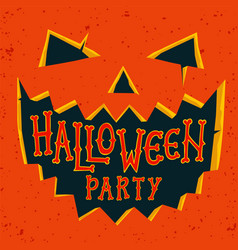 Halloween party invitation card halloween pumpkin vector