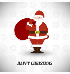 happy christmas happy new year santa clause with vector image