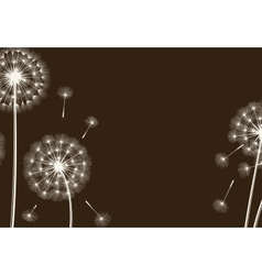 Happy holiday card with dandelions vector