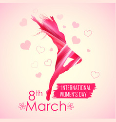 happy women s day greetings background vector image