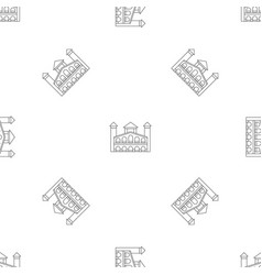 historical building icon outline style vector image
