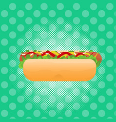 hot dog street festival fast food menu seamless vector image