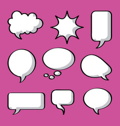 icon set pop art comics vector image