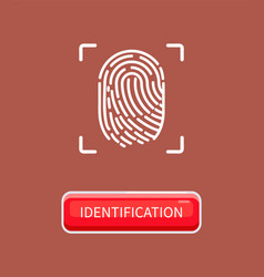 identification and recognition human fingerprint vector image