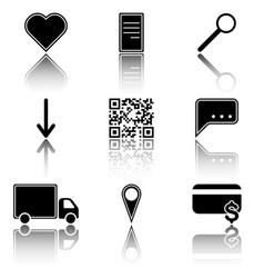 image of icons of hot menu keys - favorites vector image