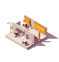 isometric advertising in parking lot vector image