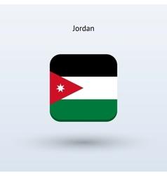 Jordan flag icon vector image
