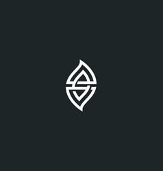 leaf logo elegant eco icon logotype vector image
