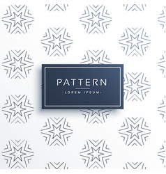 Line star pattern background design vector