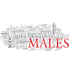 Males word cloud concept vector