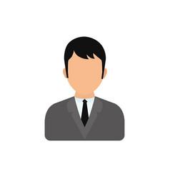 Men faceless profile vector