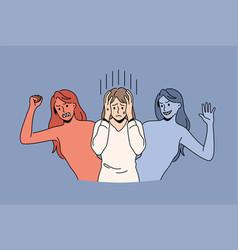 Mental health and bipolar disorder concept vector