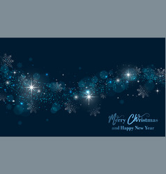 Merry christmas and happy new year banner with vector