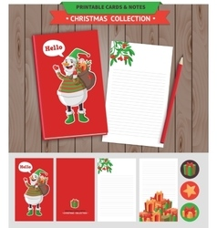 Merry Christmas printable set vector image