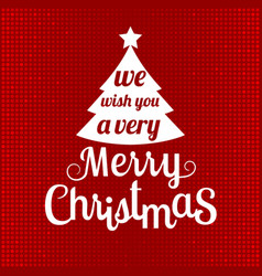 Merry christmas with glitter background vector