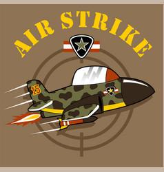 Military jet cartoon vector