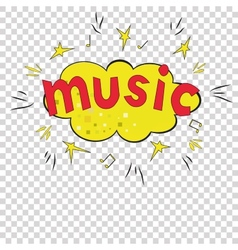Musical bright background A vector