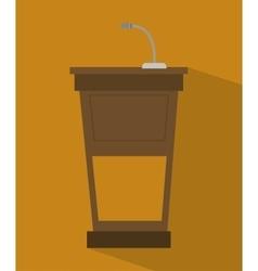podium speech icon vector image