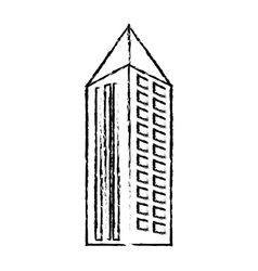 Profile building with pointed top icon vector