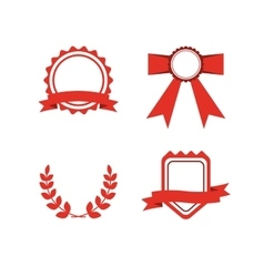 Red award labels set vector