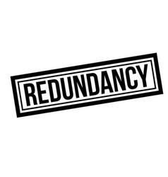 redundancy typographic stamp vector image