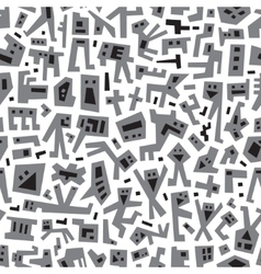 robots - abstract seamless background vector image