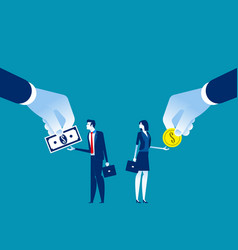 Salary different for employee concept business vector