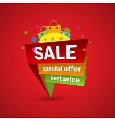 Sale and special offer discount and shopping vector image