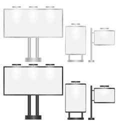 Set of billboards vector