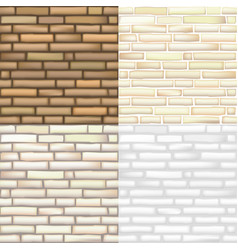 set of brick textures vector image