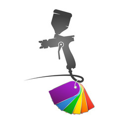 spray gun with color paint vector image
