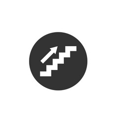 stair icon graphic design template vector image