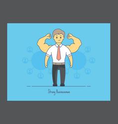 Strong businessman icon vector