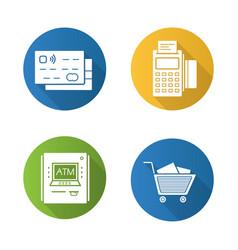 Supermarket shopping items vector
