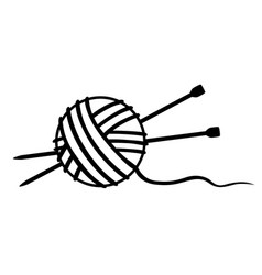 Tangle of thread and knitting needles vector