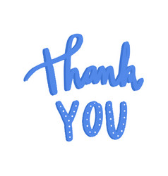 Thank you typography in blue vector
