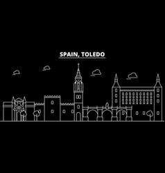 toledo silhouette skyline spain - toledo vector image