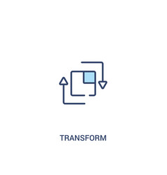 Transform concept 2 colored icon simple line vector