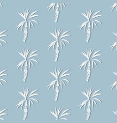 tropical palm leaf on blue background floral vector image
