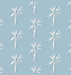 tropical palm leaf on blue background floral with vector image