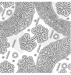 vologda lace seamless pattern vector image vector image