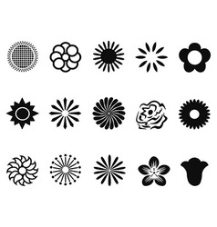 abstract flower icons vector image