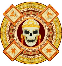 aztec god of death vector image vector image